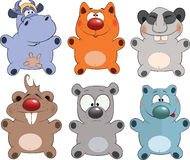 Cheerful childrens toys. Cartoon Royalty Free Stock Image