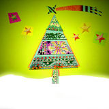 Cheerful Christmas card Stock Images