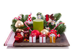 Cheerful christmas decoration Royalty Free Stock Photos