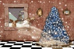 Cheerful christmas home greeting card Stock Photography