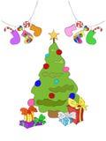 Cheerful Christmas illustration Royalty Free Stock Photo