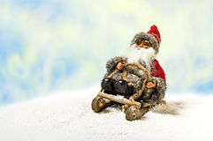 Cheerful Christmas Santa Claus Toy Royalty Free Stock Photos