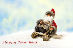 Cheerful Christmas Santa Claus Toy Stock Image