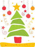 Cheerful Christmas tree. Illustration - bright and cheerful Christmas tree Royalty Free Stock Image