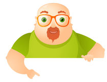 Cheerful Chubby Man Stock Photos