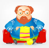 Cheerful Chubby Man Royalty Free Stock Photo