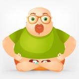 Cheerful Chubby Man Stock Photo