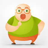 Cheerful Chubby Man Royalty Free Stock Photo