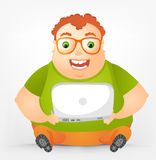 Cheerful Chubby Man Stock Images
