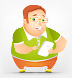 Cheerful Chubby Man Stock Photos
