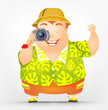 Cheerful Chubby Man Royalty Free Stock Images
