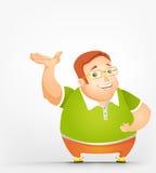 Cheerful Chubby Man Royalty Free Stock Image