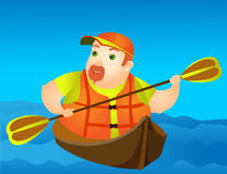 Cheerful Chubby Man. This is file of EPS10 format Royalty Free Stock Images
