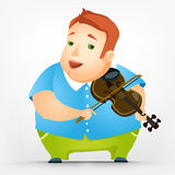 Cheerful Chubby Man Royalty Free Stock Photography