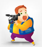 Cheerful Chubby Men Royalty Free Stock Photography
