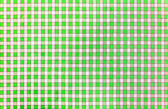 Cheerful classic rustic traditional gingham pattern in green and white Royalty Free Stock Images