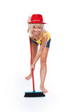 The cheerful cleaner Stock Photos