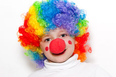 The cheerful clown Royalty Free Stock Images