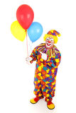 Cheerful Clown and Balloons royalty free stock images