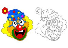 Cheerful clown Royalty Free Stock Photo