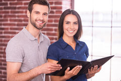 Cheerful colleagues. Royalty Free Stock Photography