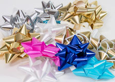 Cheerful Collection of Gift Bows Stock Photography