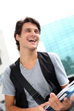 Cheerful college student Stock Images