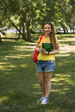 Cheerful college student Royalty Free Stock Images