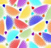 Cheerful colorful background with fan motif Royalty Free Stock Image