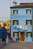 Houses. Cheerful colorful houses in Burano island stock photography