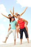 Cheerful company Stock Image