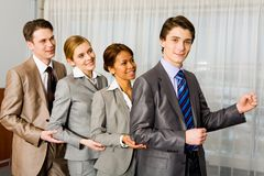 Cheerful company Stock Photo