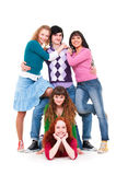 Cheerful company of young people Royalty Free Stock Photo