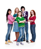 Cheerful company of young people Royalty Free Stock Images