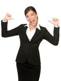 Cheerful confident young business woman Royalty Free Stock Photos