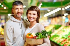 Cheerful consumers Stock Photos