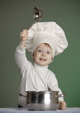 The cheerful cook Stock Photos