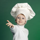 The cheerful cook Stock Images