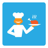Cheerful cook. Illustration of chef cook service Stock Photography