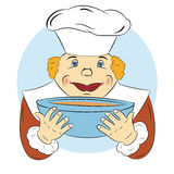 Cheerful cook Royalty Free Stock Photo