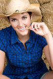 Cheerful Country Girl Stock Photography