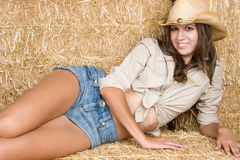 Cheerful Country Woman Stock Photography