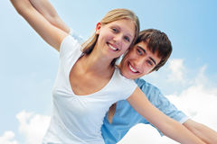 Cheerful couple Royalty Free Stock Photos