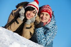 Cheerful couple Stock Images
