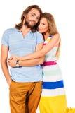 Cheerful couple Royalty Free Stock Photo