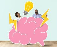 Cheerful couple with creative ideas Royalty Free Stock Photography