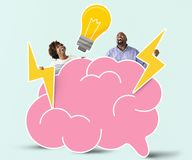 Cheerful couple with creative ideas Royalty Free Stock Images