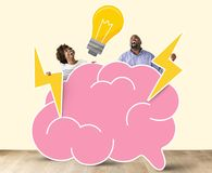 Cheerful couple with creative ideas Stock Image