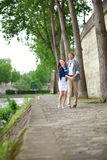 Cheerful couple is dancing royalty free stock photos
