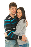Cheerful couple in embrace Royalty Free Stock Photo